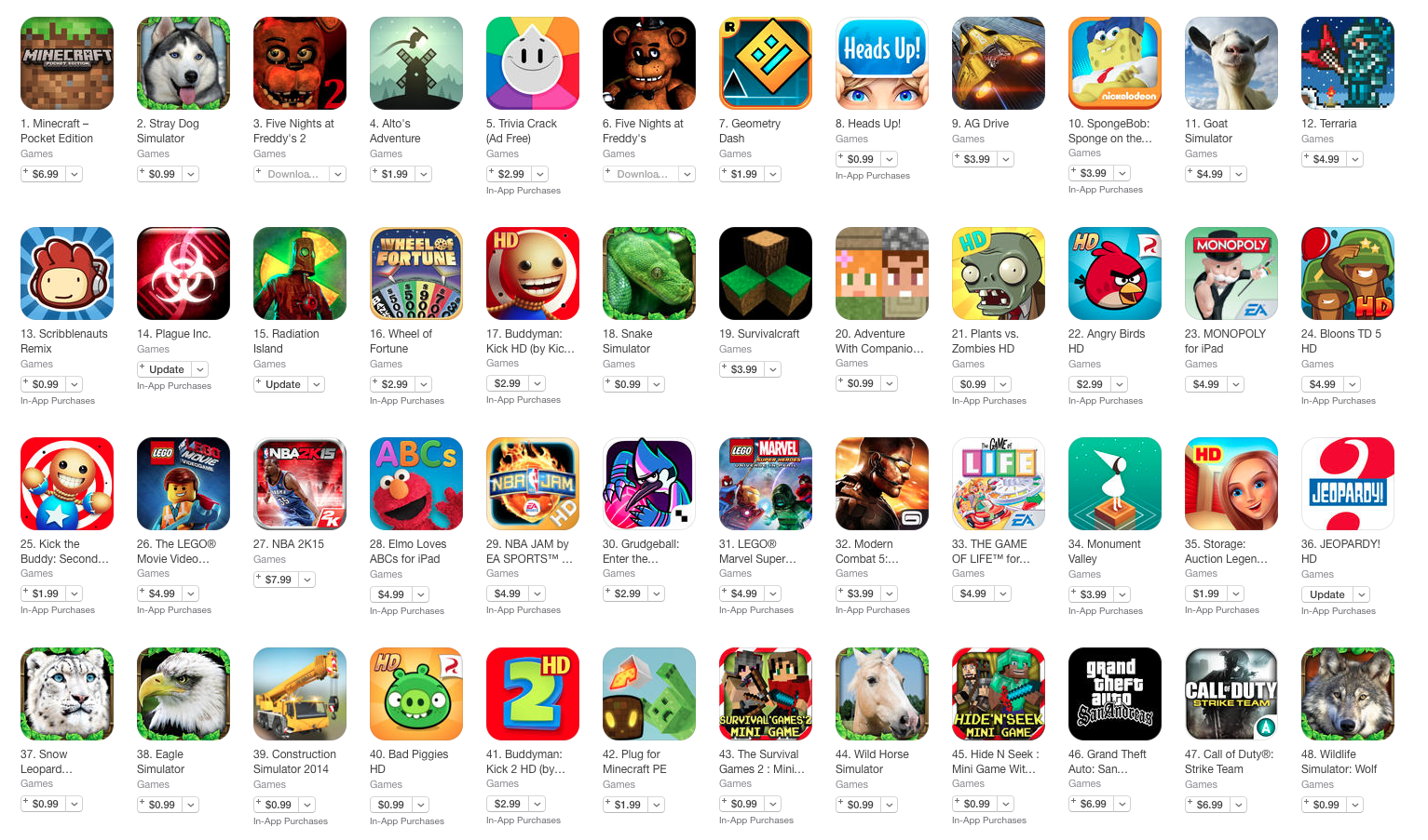 apps games in